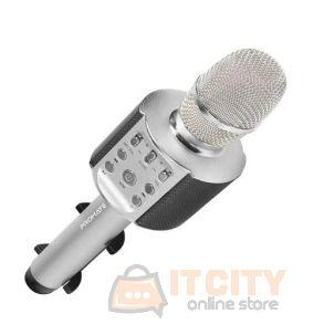 Promate VocalMic-4 Multi-Purpose Wireless Karaoke Microphone - Silver