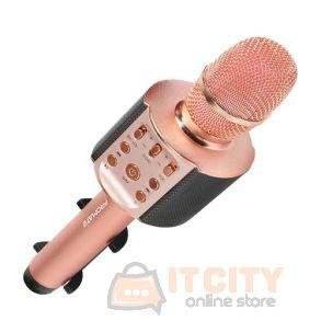 Promate VocalMic-4 Multi-Purpose Wireless Karaoke Microphone - RoseGold