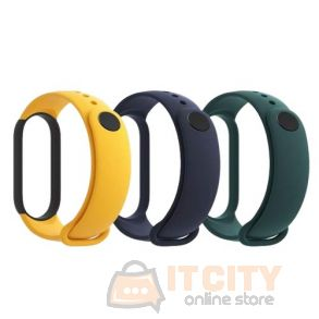 Xiaomi Mi Smart Band 5 (3pcs Pack) Strap - Mint Green, Yellow, Navy Blue
