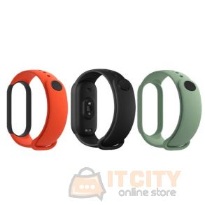 Xiaomi Mi Smart Band 5 (3pcs Pack) Strap - Black, Orange, Teal
