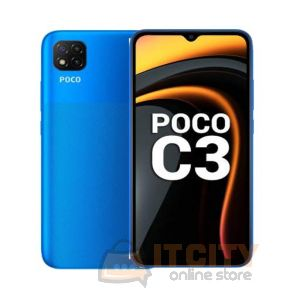 POCO C3 64GB/4GB 6.5 Inch Phone - Arctic Blue