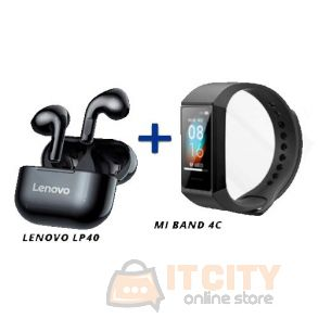 Lenovo Live Pods LP40 Wireless Earbuds With Mi Band 4C