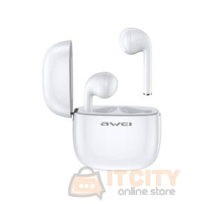 Awei T28 True Sport Wireless Earbuds with charging case - White