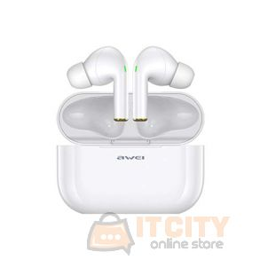 Awei T29 True Sport Wireless Earbuds with charging case - White