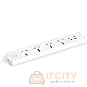 Orico (OSC-4A4U-UN-UK-WH-PRO) 4 USB Port With 4 Power Sockets - White