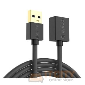 Orico (U3-MAA01-10-BK-BP) 1M USB3.0 Type-A Male to Female Extension Cable