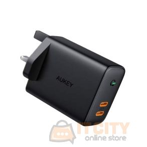 Aukey (PA-D2 BK) 36W Power Delivery Dual-Port PD USB C Charger with Dynamic Detect - Black