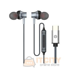 HP DHH-1126 In-Ear Headphones Type-C Cable -Black