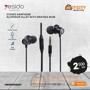 Yesido Stero Earphone Aluminum Alloy With Braided Wire
