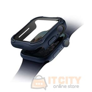 Uniq Torres Antimicrobial watch Case 9H Tempered Glass Screen protector 44MM - Nautical Blue