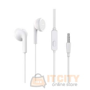 Borofone BM40 Sage earphones with mic, 3.5mm - White