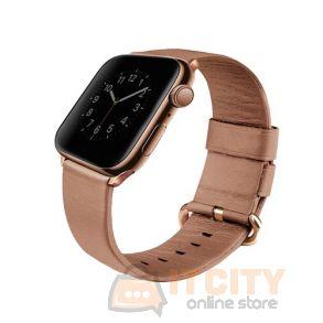 Uniq Mondain Apple Watch 4 Genuine Leather Strap 40MM - Coral