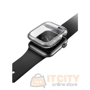 Uniq Grade Hybrid Apple Watch Series 4 Case With Screen Protection 44MM - Smoked Tinted Grey