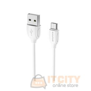 Borofone BX19 charging data sync cable for Micro-USB - White